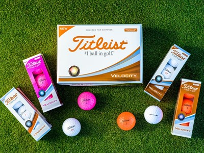 Titleist Introduces Even Faster Velocity Golf Balls