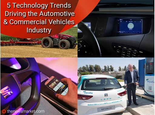 Five Technology Trends Driving the Automotive and Commercial Vehicles Industry