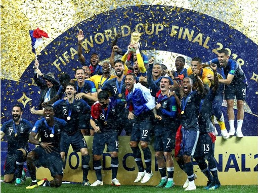 Celebration as France lifts the trophy