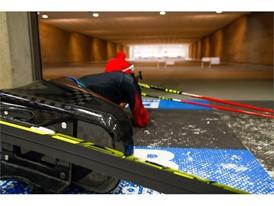 Andrea Eskau in her ski sled in training