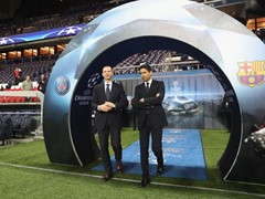 UEFA President, Aleksander Čeferin, visits PSG for UCL R16 Match Paris v Barcelona