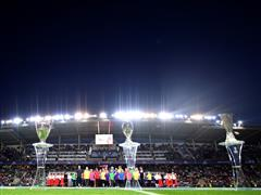 Blind children take centre stage in Tallinn for UEFA Super Cup