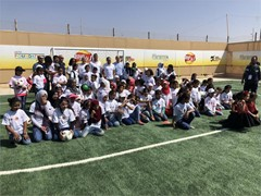 Zaatari and Azraq Residents to Benefit from Two New Artificial Football Pitches
