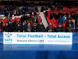 CAFE Week of Action 2016 celebrated by disabled Paris Saint Germain fans