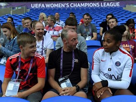 Parents will take a prominent part in the UEFA Women's Champions League final celebrations