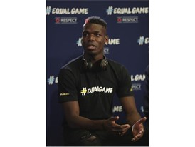 Paul Pogba at the #EqualGame launch in Monaco