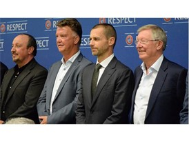UEFA President Aleksander Čeferin met with the coaches in