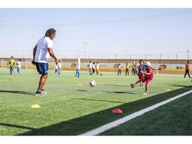 New football pitch at the Za'atari Refugee Camp in Jordan 3