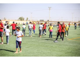 New football pitch at the Za'atari Refugee Camp in Jordan 7