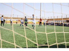 New football pitch at the Za'atari Refugee Camp in Jordan 8