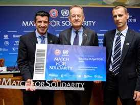 Legendary Players Signing Up for Joint UEFA-United Nations Charity Football Match in Geneva
