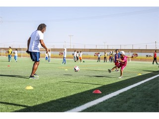 New football pitch at the Za'atari Refugee Camp in Jordan 3