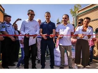New football pitch at the Za'atari Refugee Camp in Jordan 4