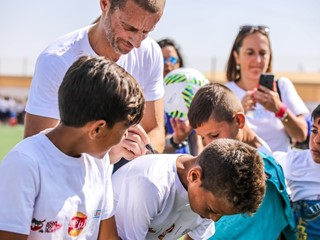 UEFA President Čeferin Inaugurates Pitch At Jordanian Refugee Camp