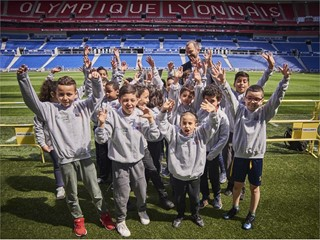 Dreams made possible for Lyon children at UEFA Europa League final 1