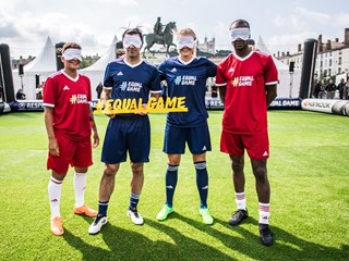 #EqualGame stars lineup alongside football legends before Europa League final