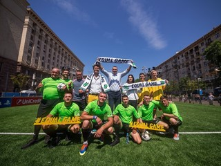 UEFA's #EqualGame campaign promotes diversity, inclusion and accessibility in football at the UEFA Champions League final in Kyiv, Ukraine