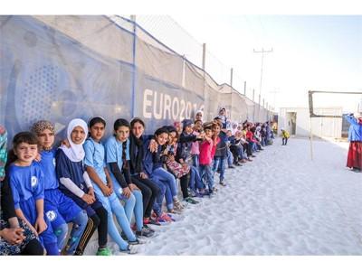 New football pitch at the Za'atari Refugee Camp in Jordan 5