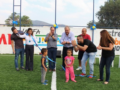 Field in a Box: UEFA Foundation for Children Brings Artificial Football Pitch Initiative to Brazil