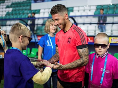 UEFA Super Cup, a platform for positive change - Building an inclusive future for visual impaired children