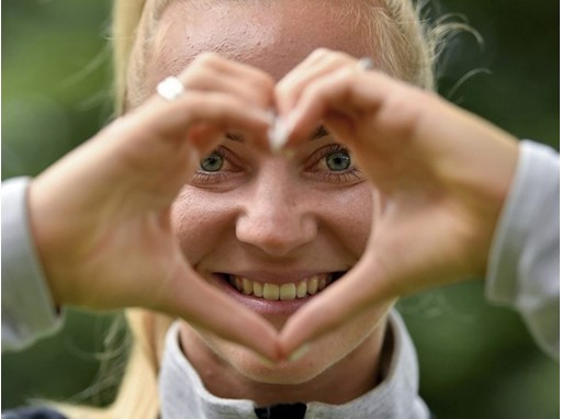Sarah Puntigam of Austria supporting 'Healthy Hearts' at UEFA Women's EURO 2017, The Netherlands ©UEFA.com