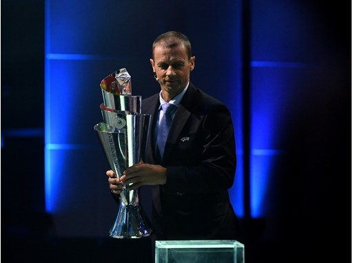 UEFA Nations League Trophy Ceferin