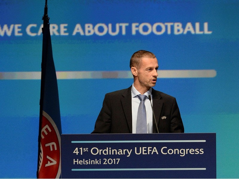 Aleksander Čeferin at the 41st Ordinary <b>UEFA Congress</b> in Helsinki