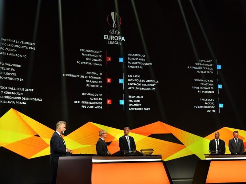 Uefa Newsroom 2018 19 Uefa Europa League Group Stage Draw In Monaco