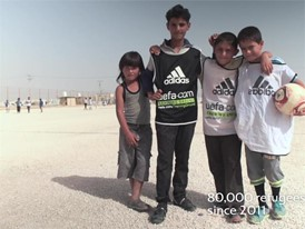Zaatari - Innauguration of House of Sport