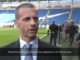 UEFA PRESIDENT WEPLAYSTRONG QUOTE - SUBBED