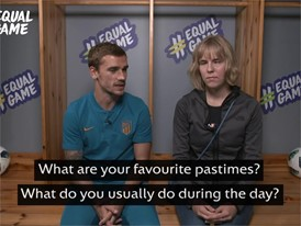 Antoine Griezmann & Merilyn #EqualGame interview clip