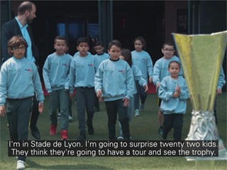 Dreams made possible for Lyon children at UEFA Europa League final