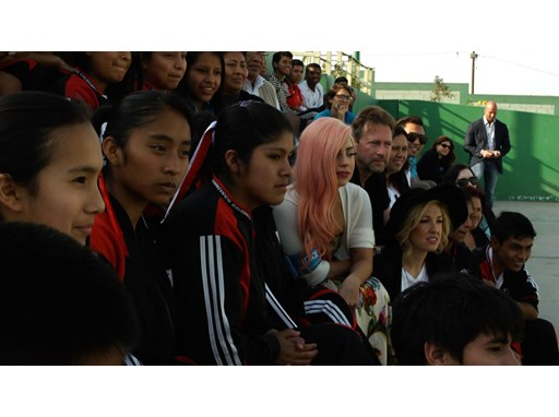 UNICEF Supporter Lady Gaga Visits School in Peru