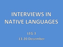 Interviews, all languages. 13-20 December