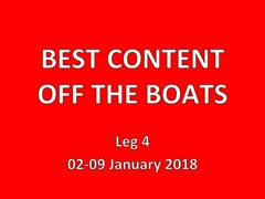 Best of boatfeeds 02-09 January Leg 4 week 1