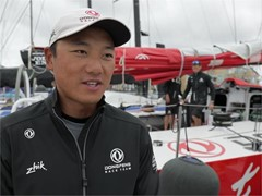 Leg Zero: Rolex Fastnet Race - Interview with Dongfeng's Chen Jinhao 'Horace' as preparation is underway for the Rolex Fastnet Race (CHN)