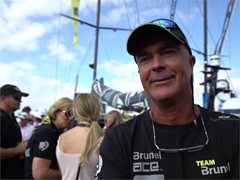 Pre-Leg 1 start interviews with team Brunel (ENG, ITA, NED)