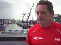 Preview of Lisbon in-port race with MAPFRE's Joan Vila