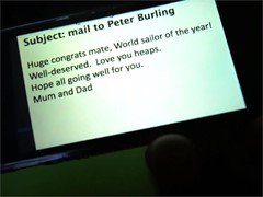 Peter Burling finds out he's World Sailor of the Year