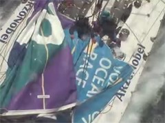 Dramatic footage of team AkzoNobel breakage in Southern Ocean