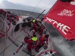 VNR - MAPFRE chasing fleet after pit-stop for repairs, Cape Horn rounded