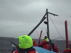Vestas 11th Hour Racing dismasted; all crew safe