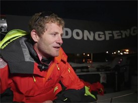 Leg Zero: Rolex Fastnet Race - finish: French language Interview, Charles Caudrelier, skipper, Dongfeng Race Team (CHN)