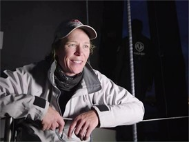 Leg Zero: Rolex Fastnet Race - finish: Interview, Carolijn Brouwer