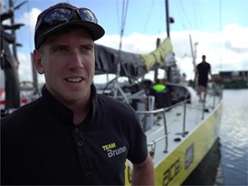 Leg Zero: St Malo arrival interviews, Peter Burling, Team Burnel