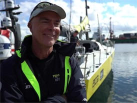 Leg Zero: Dutch + Eng interview,  Bouwe Bekking, Team Brunel - St Malo