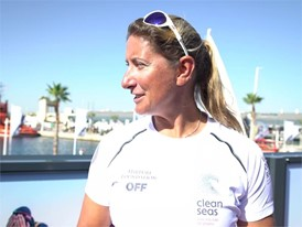 IV Dee Caffari before In-Port Race in Alicante (ENG)