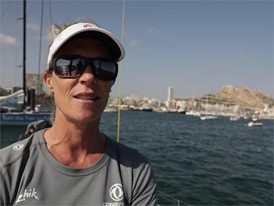 ENG IV Carolijn Brouwer after the In-Port Race in Alicante