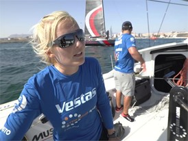 DEN IV Jena Mai Hansen after the In-Port Race in Alicante