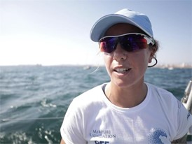 ITA IV Francesca Clapcich after the In-Port Race in Alicante